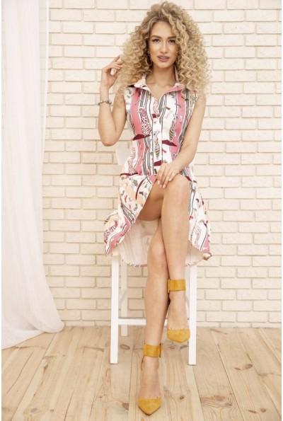 Платье-рубашка 167R1652 цвет Молочно-розовый