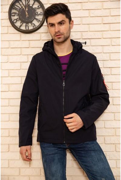Куртка мужская с капюшоном демисезонная цвет Синий 129RD-198