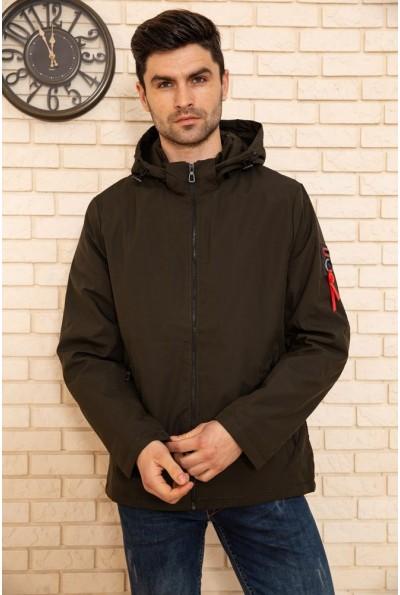 Куртка мужская с капюшоном демисезонная цвет Хаки 129RD-198 50772