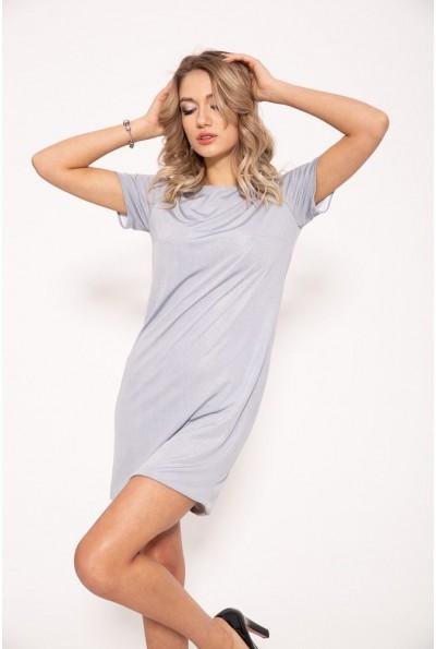 Стильное однотонное платье серого цвета 115R159