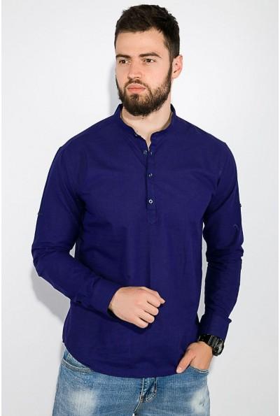 Рубашка мужская темно-синяя с воротником стойкой AG-0010586