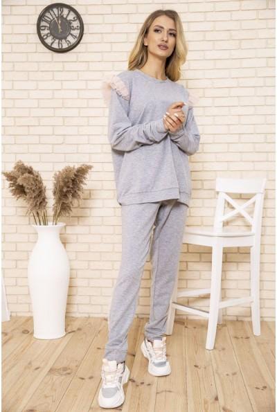 Костюм женский прогулочный большой размер цвет Серый 167R1631