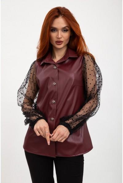 Блуза женская 119R0404 цвет Бордовый