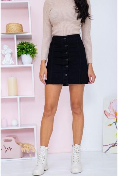 Юбка женская джинсовая   цвет черный 164R2219 67010