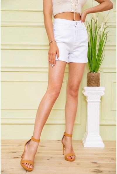 Джинсовые шорты женские  цвет белый 164R2108 59159