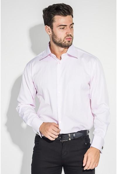 Розовая рубашка мужская пастельного оттенка 37162-9