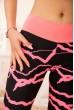 Спортивные леггинсы для фитнеса цвет Черный с розовым 172R3111-1 скидка