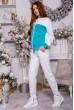 Костюм женский 102R098 цвет Бело-бирюзовый недорого