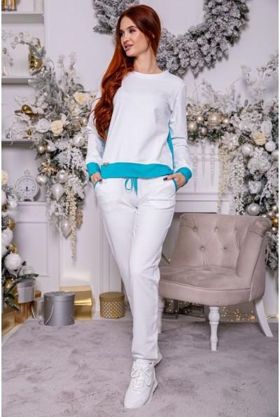 Костюм женский 102R098 цвет Бело-бирюзовый