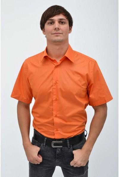 Мужская однотонная рубашка оранжевого цвета 113RPass0010 12562