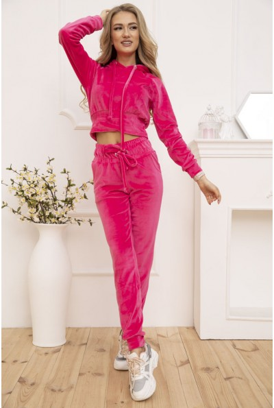Спортивный костюм женский велюровый цвет Розовый 119R278