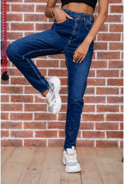 Женские джинсы с высокой талией синие 129R5088 45587