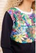 Женский повседневный костюм двунитка Свитшот и штаны цвет Синий 167R9-1 акция