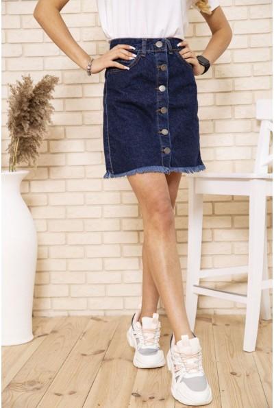 Юбка женская джинсовая трапеция на пуговицах цвет Синий 164R2021 50592