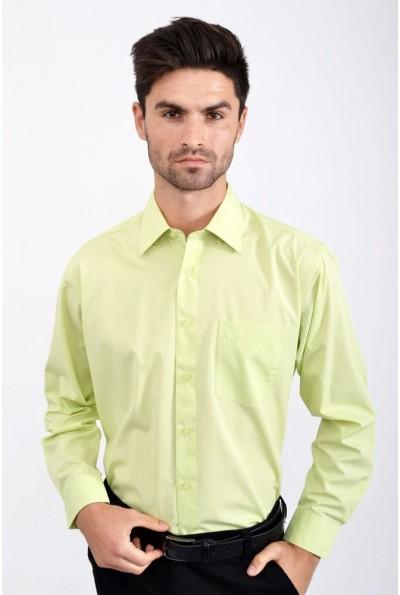 Рубашка мужская салатовая классическая 818-71