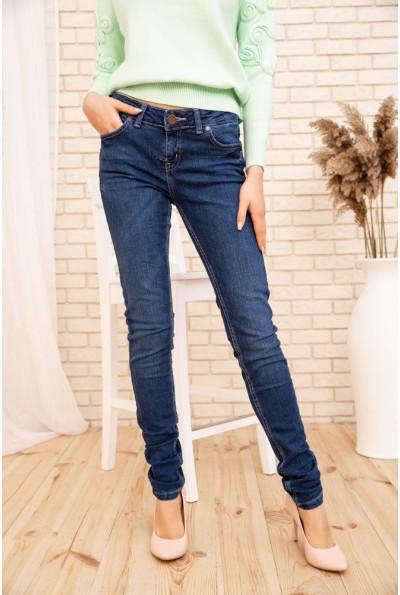 Зауженные женские джинсы со средней посадкой цвет Синий 171R010 53695