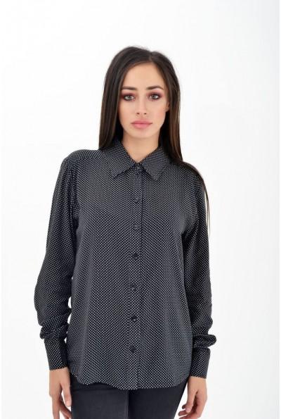 Рубашка женская в горошек 102R003 цвет Черный