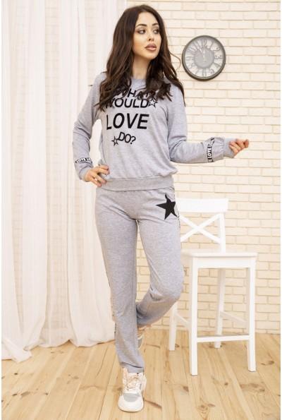 Женский повседневный костюм цвет Серый 167R21-1