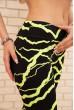 Лосины для спорта с неоновыми вставками цвет Черно-желтый 172R3110-2 скидка