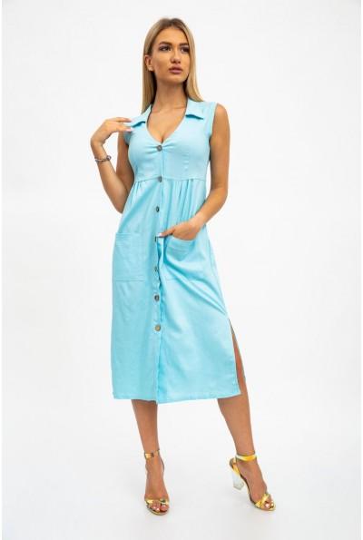 Стильное платье женское, летнее, голубое 112R491 34308