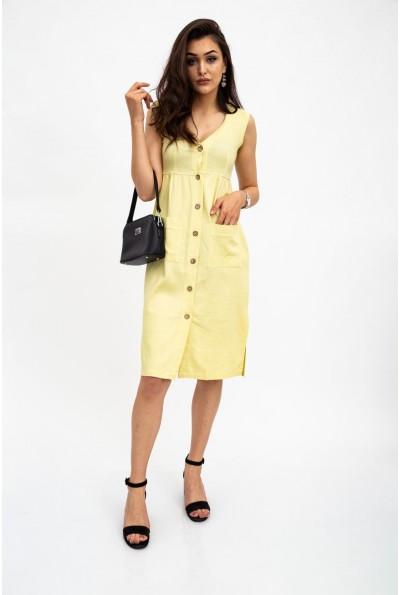 Платье женскоелимонное, без рукавов 112R491 34312