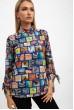 Купить Блуза женская, разноцветная,синяя115R263-3