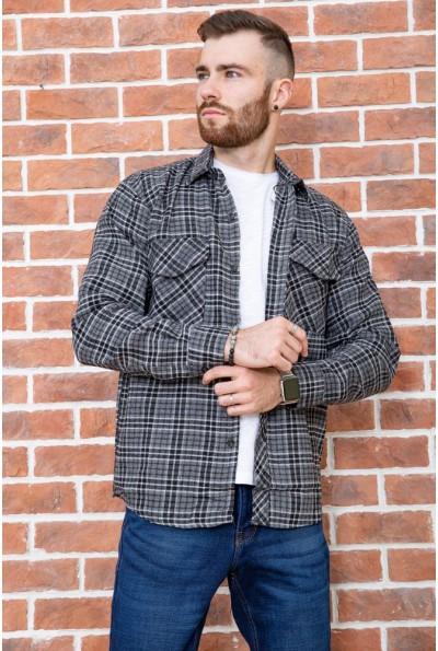 Рубашка мужская фланелевая  цвет серо-черный 129R16114 67209
