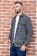 Рубашка мужская фланелевая  цвет серо-черный 129R16114 стоимость
