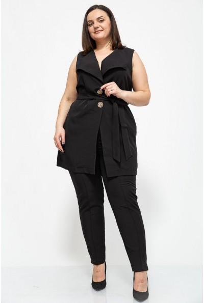 Женский костюм жилетка и брюки большой размер цвет Черный 102R085 41333