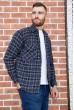 Рубашка мужская фланелевая  цвет сине-черный 129R16114 стоимость