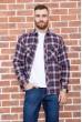 Купить Рубашка мужская фланелевая  цвет сине-бордовый 129R16114 67215