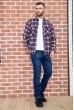 Рубашка мужская фланелевая  цвет сине-бордовый 129R16114 недорого