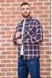 Рубашка мужская фланелевая  цвет сине-бордовый 129R16114 стоимость