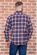 Рубашка мужская фланелевая  цвет сине-бордовый 129R16114 цена 709.0000 грн