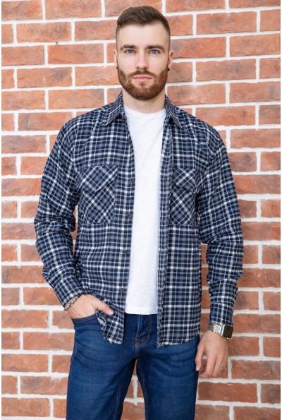 Рубашка мужская фланелевая  цвет сине-серый 129R16114 67223