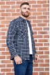 Рубашка мужская фланелевая  цвет сине-серый 129R16114 стоимость
