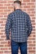 Рубашка мужская фланелевая  цвет сине-серый 129R16114 цена 709.0000 грн