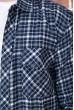 Рубашка мужская фланелевая  цвет сине-серый 129R16114 скидка