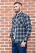 Рубашка мужская фланелевая  цвет сине-зеленый 129R16114 стоимость