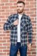 Купить Рубашка мужская фланелевая  цвет сине-зеленый 129R16114 67219