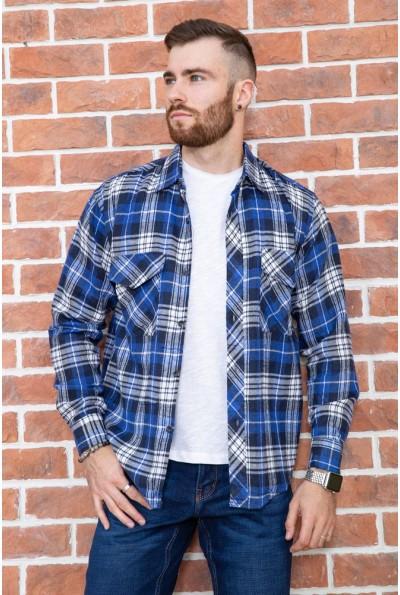 Рубашка мужская фланелевая  цвет сине-белый 129R16114 67213