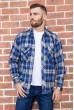 Купить Рубашка мужская фланелевая  цвет сине-белый 129R16114 67213