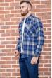 Рубашка мужская фланелевая  цвет сине-белый 129R16114 стоимость