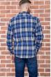 Рубашка мужская фланелевая  цвет сине-белый 129R16114 цена 709.0000 грн