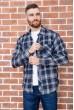 Купить Рубашка мужская фланелевая  цвет сине-желтый 129R16114 67217
