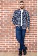 Рубашка мужская фланелевая  цвет сине-желтый 129R16114 недорого
