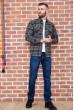 Рубашка мужская фланелевая  цвет серо-бежевый 129R16114 недорого