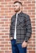 Рубашка мужская фланелевая  цвет серо-бежевый 129R16114 стоимость