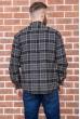 Рубашка мужская фланелевая  цвет серо-бежевый 129R16114 цена 709.0000 грн