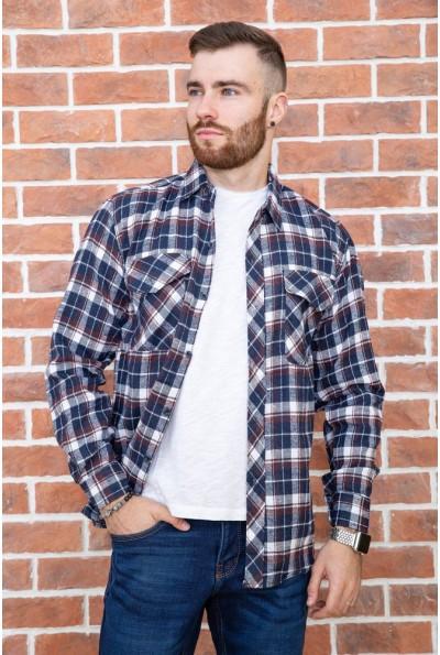Рубашка мужская фланелевая  цвет сине-коричневый 129R16114 67221